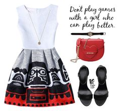 """""""Untitled #429"""" by pausteja ❤ liked on Polyvore featuring Jada and Love Moschino"""