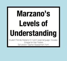 [FREE] Marzano's Levels of Understanding (0-4 Point Scale) Poster and Rubric. In order for a learning target to be meaningful to students, they must interact with it. My plan this year (for every learning target) is to have students rate themselves at the beginning of the lesson and again at the end.
