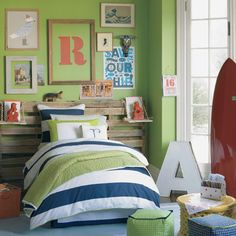 Kid's Room, green and blue. Serena and lily.