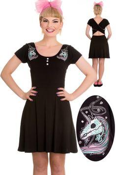 Rarity Mini Dress with Unicorn by Hell Bunny