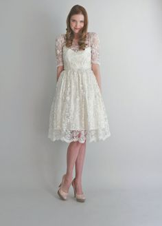 Adorable city hall wedding dress style by LeAnimal on Etsy