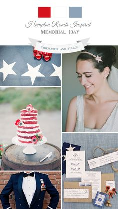 Tidewater and Tulle   A Hampton Roads Virginia Wedding Inspiration Blog: Memorial Day Military Wedding Inspiration