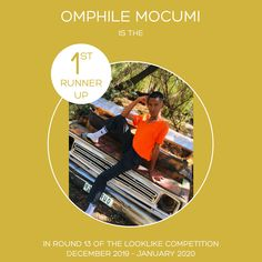 💥🎊🎉Please congratulate Omphile Mocumi @Omphile29_03 who is the 1st runner up in Round 13 of the Looklike competition, run from December 2019 to January 2020.⠀⠀⠀⠀ .⠀⠀⠀⠀ Am Omphile a young boy from a rural place in mafikeng, am slender by nature, am yellow bone that's how most people describe me in colour, am tall but not tall and am born to shine that's what my mom told me long time ago to achieve my goals⠀⠀⠀  #menswear #mensfashion #fashion #menstyle #style #mensstyle #ootd #streetwear Ladies Fashion, Mens Fashion, Yellow Bone, Describe Me, Long Time Ago, My Goals, Streetwear, Competition, December