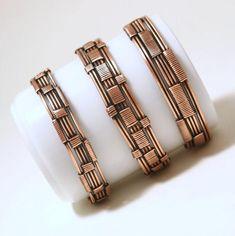 Copper Jewelry Copper Bracelet Set of Copper Bracelets For Bracelet Fil, Wire Wrapped Bracelet, Wire Wrapped Rings, Cuff Bracelets, Silver Bracelets, Silver Ring, Copper Cuff, Copper Bracelet, Copper Jewelry