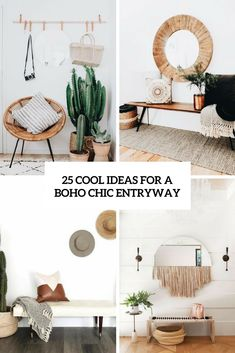 cool ideas for a boho chic entryway cover