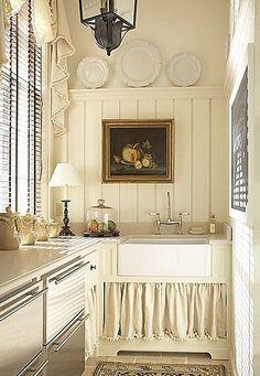 Skirted Sink Kitchen : Sink Skirt on Pinterest Bathroom Sink Skirt, Utility Sink and Sinks