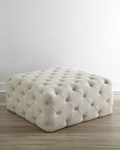Puffet Ottoman by Haute House at Horchow. I love this! #HORCHOW (I am always thinking of a piece of furniture's function in my social circle, I can see multiple friends sitting on it, chatting!)