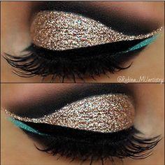 Sooo beautiful @rubina_muartistry used Champagne Kisses Glitter