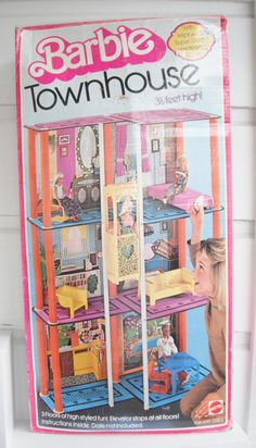 Barbie's Town House. Had an elevator you pulled with a drawstring. Definitely got my parents' money's worth out of this thing!!!