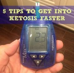 Tips for entering ketosis faster!