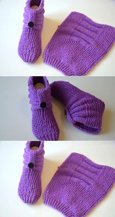 Knitted Dog Sweater Pattern, Knit Slippers Free Pattern, Baby Booties Knitting Pattern, Baby Boy Knitting Patterns, Knitted Slippers, Crochet Baby Booties, Knitted Bags, Knitting Socks, Baby Knitting