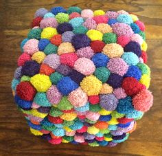 Kids Seating Ottoman │ Pouf This handmade wool ottoman/pouf from South Africa.
