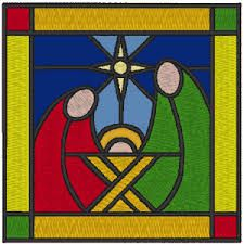 Image result for stained glass nativity patterns