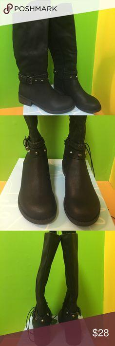NWB Life Stride black boots women's size 7.5 M NWB Life Stride soft system  black leather tall boots women's size 7.5 M Life Stride Shoes