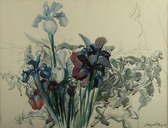 Leon Wyczółkowski, Irysy (Irises) #painting #Wyczółkowski #Opole #museum