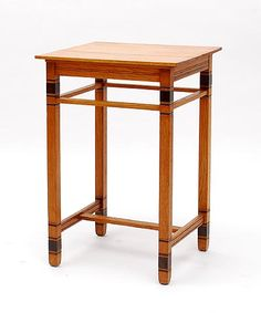 Oak side-table with ebony accents design A.R.Wittop Koning 1878-1961 executed by Meubelfabriek Huizinga Groningen / the Netherlands ca.1920