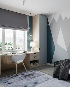 newest paint home decor ideas that trending now 26 ~ mantulgan.me : newest paint home decor ideas that trending now 26 ~ mantulgan. Kids Room Design, Home Office Design, Interior Design Living Room, Kids Bedroom, Bedroom Decor, Boys Bedroom Furniture, Design Studio, Awesome Bedrooms, Guest Bedrooms