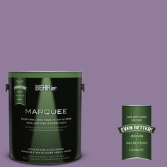 BEHR MARQUEE 1-gal. #660D-5 Wildflower Semi-Gloss Enamel Exterior Paint