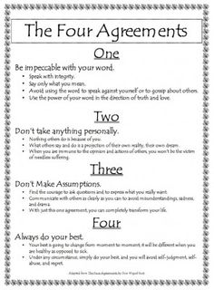 Agreement 4 always do your best the four agreements palabras the four agreements good lessons for my middle schooler platinumwayz