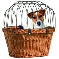 Ovaler Fahrradkorb mit Schutzgitter | Vollweide | Metall | Transportbox | Hundetransportbox Hundezubehör und Hundebedarf günstig online kaufen | Alles für Ihren Hund | Hundekrone.de Hundeshop