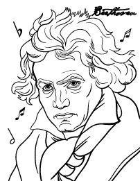 Beethoven Coloring Page Con Imagenes Arte Y Musica Blog De
