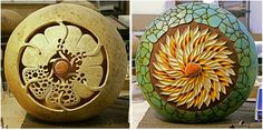 """Work in Progress.  The right piece is called """"Celtic Flower"""", the right """"Vortex."""""""