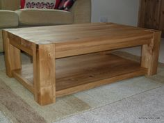 JCT - Rustic Oak Jules Coffee Table With Shelf