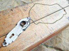 Repurposed Vintage Lock Plate Statement Necklace by BuffaloDaisies, $34.00