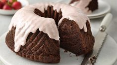 One Bowl Strawberry Covered Chocolate Bundt Cake -- This cake is for the true chocolate lovers! Packed with bittersweet chocolate, pudding mix and sour cream, it delivers lots of flavor without a lot of work.