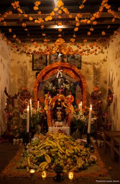Day of the Dead altar in Michoacan, Mexico