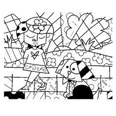 Desenhos para colorir do Romero Britto