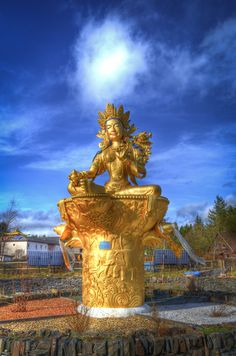 500px / Green Tara by Andrew Wood - Kagyu Samyu Ling - Vallay on the banks of river Esk - Scotland