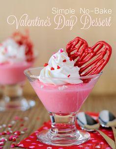 Simple No-Bake Valentine's Day Dessert #valentinesday