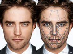 According to Dr. Stefan Markuort's theory, we can see how beautiful a face is if its characteristics are arranged according to the golden ratio - ratio equal to 1: 1,618. Robert Pattinson: Everything is perfect, except for a broken nose.