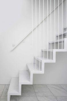 white stair.