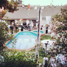 elegant backyard wedding reception