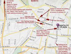 2012 Downtown Santa Fe Map Santa Fe Opera, Chile, Tours, Map, Vacation, Vacations, Location Map, Maps, Holidays Music