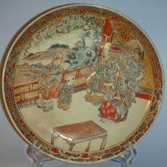 Antique Japanese Plates | Satsuma Plate - Ceramics - Japanese - South Perth Antiques .  sc 1 st  Pinterest & FINE Japanese Antique Premium Museum Quality SATSUMA Plate Porcelain ...