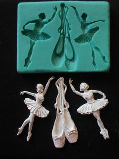 Silicone Mould BALLET Sugarcraft Cake Decorating Fondant / fimo mold Silicone Mold BALLET Sugarcraft Cake Decorating by StaceyDecor Soap Molds, Silicone Molds, Resin Molds, Ballet Crafts, Candle Molds, Sugar Craft, Fondant Molds, Mold Making, Cold Porcelain