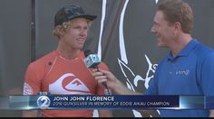 John John Florence on winning the Quiksilver in Memory of Eddie Aikau