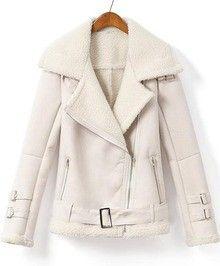White Lapel Long Sleeve Pockets Jacket www.sheadline.com  http://www.sheadline.com/tops.html  http://www.sheadline.com/tops/jackets.html