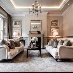 Gray Living Room - Alexander James Interiors