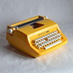 machine à écrire Europa 80 vintage - Deco Graphic