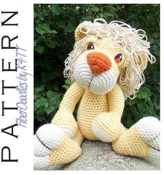 INSTANT DOWNLOAD : Roarin Roland the Lion Cub Crochet Pattern by FiberDoodlesbyK4TT on Etsy https://www.etsy.com/listing/209694361/instant-download-roarin-roland-the-lion