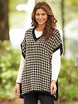 """""""This poncho gets """"Wows"""" from my friends and family"""" ~ Lancaster, PA on our Houndstooth Poncho by Bedford Fair"""