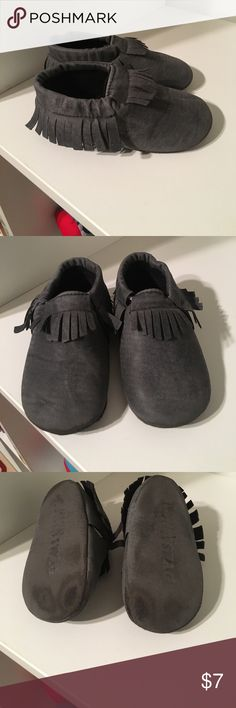 Moccasins Kids Sweet N Swag Moccasins. Size 5/6. Denim fabric. Worn. Wear shown in pictures. Sweet N Swag Shoes Moccasins