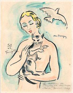 Kees van Dongen (1877-1968) and Foujita Tsuguharu (1886 - 1968)