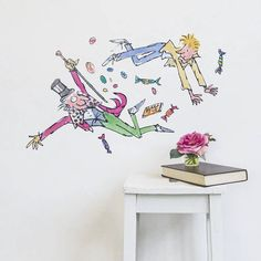 Charlie, Willy And The Sweets Roald Dahl Wall Sticker