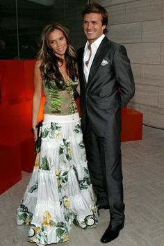 Victoria Beckham's 30 Most Memorable Outfits Aside from all of her Spice Girls outfits, of course. Happy birthday, V. David E Victoria Beckham, Victoria And David, Victoria Beckham Outfits, Victoria Beckham Style, Spice Girls Outfits, Girl Outfits, Vic Beckham, What's My Favorite Color, The Beckham Family