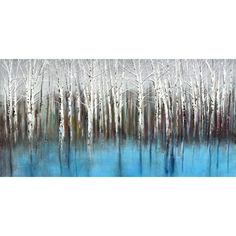 """Portfolio Canvas 'Mirage Horizontal Panel' by Sandy Doonan Painting Print on Wrapped Canvas Size: 17"""" H x 34"""" W x 1.5"""" D"""